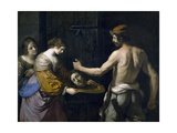Salome Receiving Head of St. John the Baptist, 1637 Lámina giclée por  Guercino