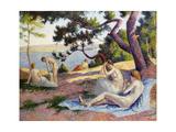 Bathers at Saint Tropez; Baigneuses a Saint-Tropez, 1892 Giclee Print by Maximilien Luce