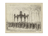 Funeral Procession of Her Royal Highness Princess Charlotte Giclee Print by George Cruikshank