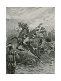 Death of Sir Edward Pakenham at the Battle of New Orleans, 1814 Giclee Print by Paul Hardy
