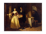 The Parting of Lord William and Lady Rachel Russell in 1683 Giclee Print by Charles Lucy