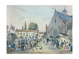 Local Fetes around Paris', Series, 1830, the Saint Jean at Sceaux Giclee Print by Victor Adam