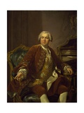 Portrait of Nicolas Beaujon Giclee Print by Louis Michel Van Loo