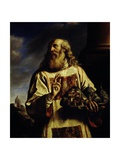 St Marin Holding His City in His Hand Lámina giclée por  Guercino