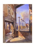 The House of the Coloured Capitals in Pompeii, 1856 Giclee Print by Giacinto Gigante