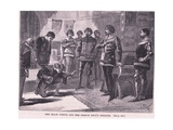 The Black Prince and the French King's Heralds Ad 1367 Giclee Print by Gordon Frederick Browne