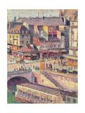 The Pont Saint-Michel and the Quai Des Orfevres, Paris, C.1900-03 Giclee Print by Maximilien Luce