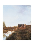 Canal at Graveland, 1818 Giclee Print by Pieter Gerardus van Os