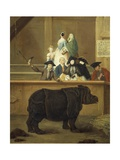 The Exhibition of the Rhino, 1751 Giclee Print by Pietro Longhi