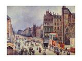 Construction on Reaumur Street; Le Percement De La Rue Reaumur, 1896 Giclee Print by Maximilien Luce