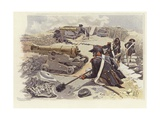 Soldiers Taking Up their Positions Among the Ruins of Nicopolis Giclee Print by Felicien Baron De Myrbach-rheinfeld