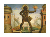 Prologue: the Harbour with the Colossus of Rhodes Giclee Print by Giacomo Torelli