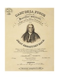 Title Page of Score for Art of Fugue Giclee Print by Johann Sebastian Bach