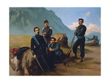 Cairoli Brothers at Camp, 1860 Giclee Print by Federico Faruffini