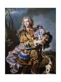 Gaspard De Gueidan Playing Bagpipes, Ca 1735 Giclee Print by Hyacinthe Rigaud
