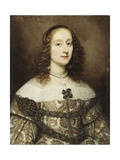 Portrait of a Lady, Half-Length, Wearing a Gold Embroidered Gown Giclee Print by Justus Sustermans