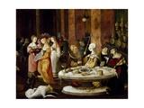 Salome's Banquet, Circa 1521 Giclee Print by Nikolaus Kirberger