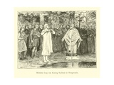 Wulfram Fails to Baptise Radbod, King of the Frisians Giclee Print by Willem II Steelink
