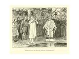 Wulfram Fails to Baptise Radbod, King of the Frisians Giclee Print by Willem II Steelink