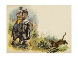 The Prince of Wales Tiger Shooting During the Royal Tour in India, 1905 Giclee Print by Henry Payne