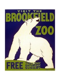 Poster Advertising Brookfield Zoo in Chicago, Illinois, 1938 Giclee Print