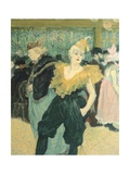 Clowness Cha-U-Kao at Moulin Rouge, 1895 Lámina giclée por Henri de Toulouse-Lautrec