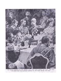 Tzar of Russia and the Austrian Emperor at a Banquet before the War Giclee Print by Charles Mills Sheldon