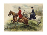 The Prince and Princess of Wales in the Hunting Field Giclee Print by Henry Payne