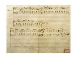 Score for Mazurka, Opus 7 No 4 Giclee Print by Frederic Chopin