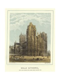 Wells Cathedral, West Front Showing the North Porch Transept, Etc Giclee Print by Hablot Knight Browne