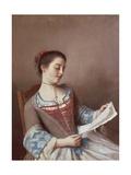 Portrait of Mademoiselle Lavergne Giclee Print by Jean-Etienne Liotard