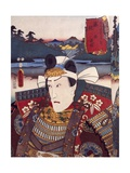 Portrait of Kabuki Theater Actor, Ukiyo-E Giclee Print by Utagawa Toyokuni