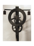 Clock with Weights Designed Giclée-tryk af Brunelleschi, Filippo