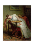 Hope Deferred, and Hopes and Fears That Kindle Hope Giclee Print by Charles West Cope