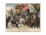Celebrating the Victory at the Battle of Hohenfriedeberg Giclee Print by Richard Knoetel