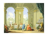 Hours of Day, Lunch, 1753-1755 Giclee Print by Giuseppe Zocchi