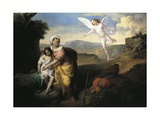 Hagar and Ishmael Visited by Angel, Circa 1846 Giclee Print by Francesco Coghetti