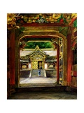 The 3rd Gate, Iyemitsu Temple, Nikko, Japan, C.1886 Giclee Print by John La Farge