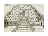 Garden at Villa Nani Mocenigo in Monselice, 1697 Giclee Print by Vincenzo Coronelli