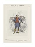 Colonel Delegue Aux Munitions De Guerre, Le Citoyen Assi Giclee Print by Charles Albert d'Arnoux Bertall