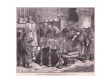 Fitzarthur Forbidding the Burial of William Ad 1087 Giclee Print by Francois Edouard Zier