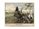 Death of Field Marshal Von Schwerin at the Battle of Prague Giclee Print by Richard Knoetel