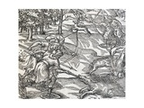 Indians Boar Hunting, Engraving from Universal Cosmology Giclee Print by Andre Thevet