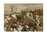 Battle of the Lisaine, Franco-Prussian War, 15-17 January 1871 Giclee Print by Georg Koch
