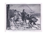 Attempt of Cossacks to Capture Napoleon at Brienne Giclee Print by William Barnes Wollen