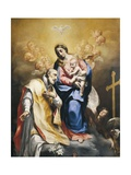 St. Philip Neri with Virgin and Child Giclee Print by Carlo Cignani