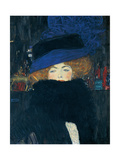 Lady with a Hat and a Feather Boa Giclee Print by Gustav Klimt