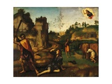 Cain Killing Abel, 1510-1515 Giclée-tryk af Albertinelli, Mariotto