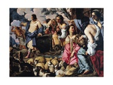 Moses and Jethro's Daughters Giclee Print by Sigismondo Coccapani