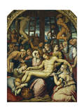 Lamentation over the Dead Christ Deposed from the Cross Giclée-Druck von Giorgio Vasari